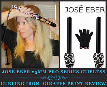 Jose Eber 25mm Pro Series Clipless Curling Iron- Giraffe Print Review