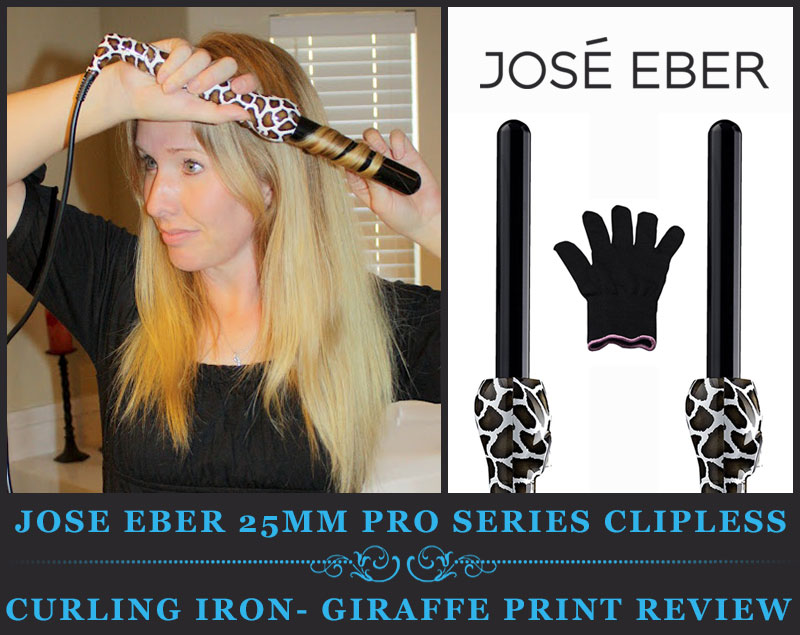 Featured Image Of Jose Eber 25mm Pro Series Clipless Curling Iron- Giraffe Print Review