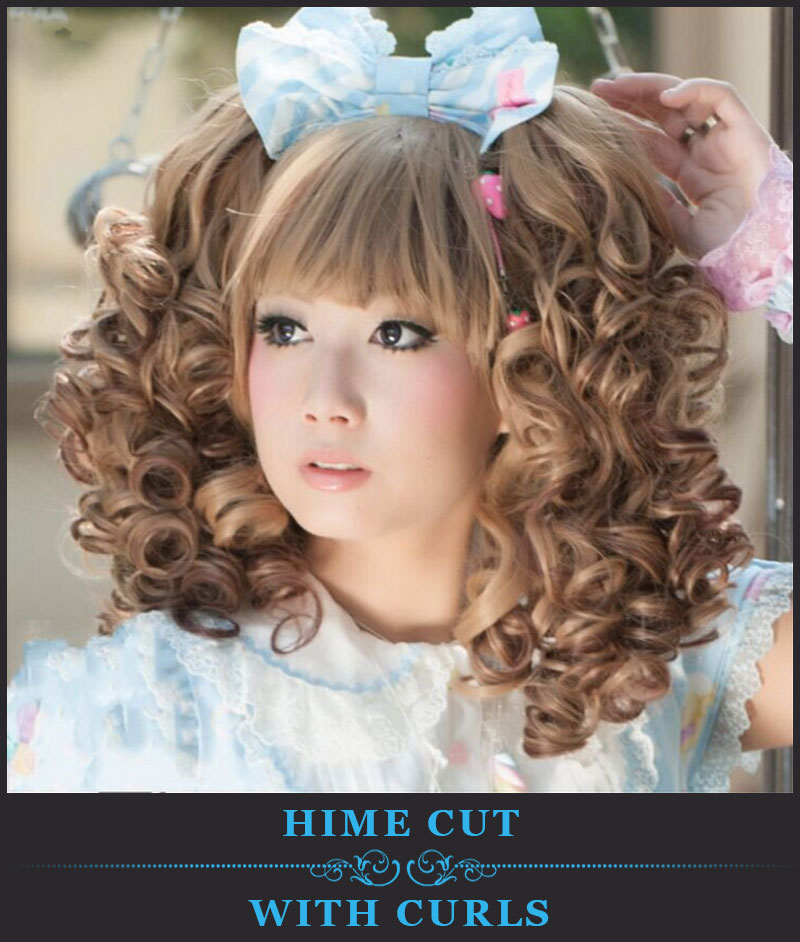 Featured Image Of Hime Cut With Curls