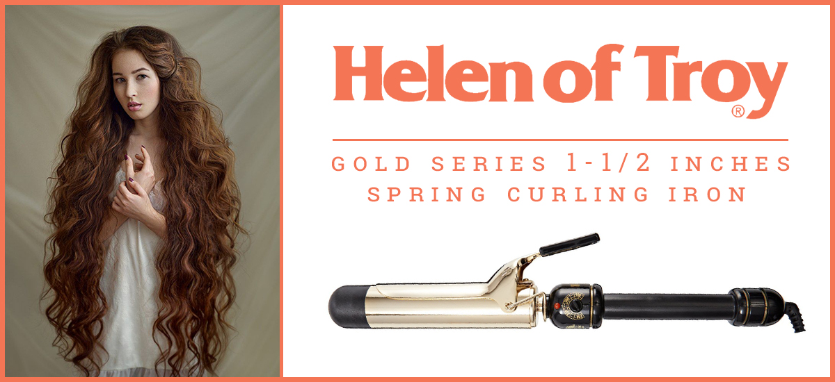 Gold Series 1-1/2'' Spring Curling Iron