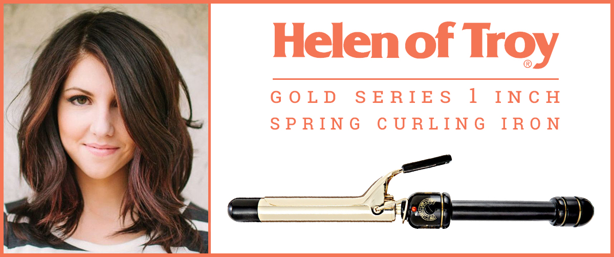 Gold Series 1 Inch Spring Curling Iron