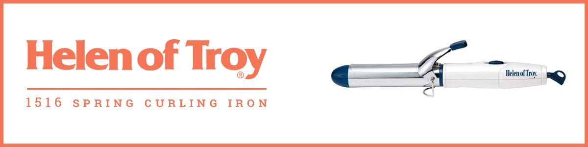 Helen of Troy 1516 Spring Curling Iron, White, 1 1/4 Inches