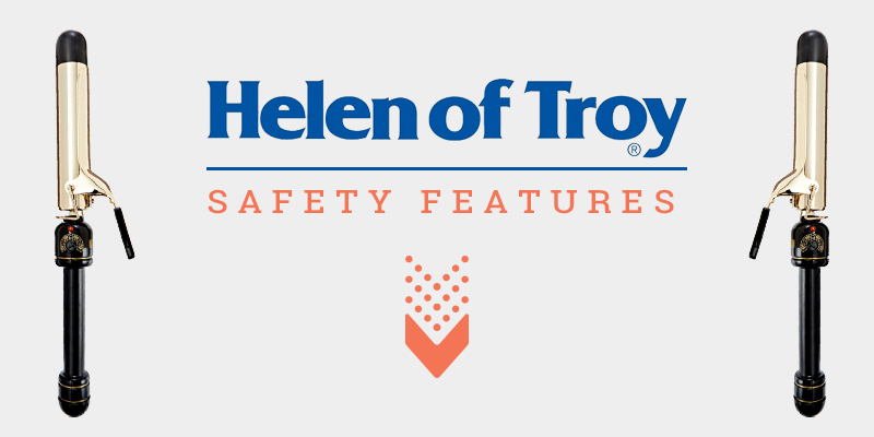"Safety Outlooks Of Helen Of Troy Gold Series 1-1/4"" Spring Curling Iron"