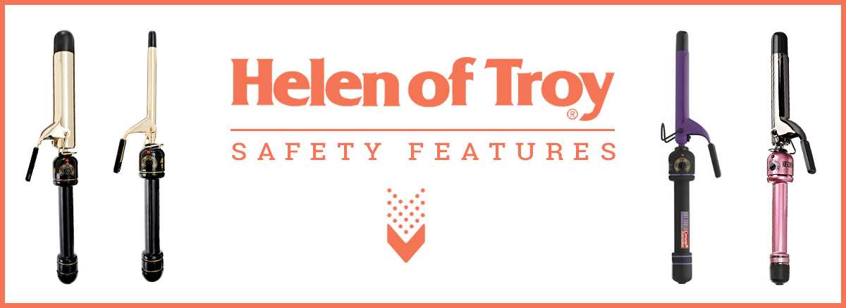 Safety Viewpoints Banner Of Helen of Troy Curling Iron