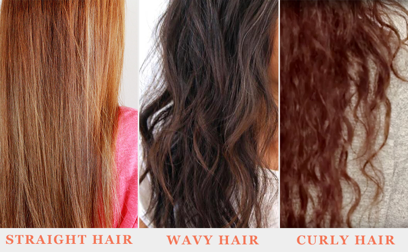 Hair Pattern Straight, Wavy And Curly Hair