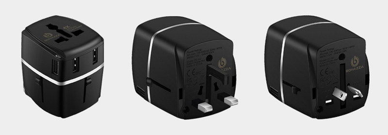 BONAZZA Universal International Travel Adapter Kit