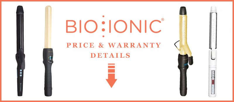 Price and Warranty Details Of Bio Ionic Curling Iron Reviews