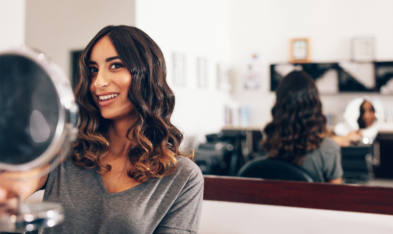 Curly hair with Helen of Troy curling iron
